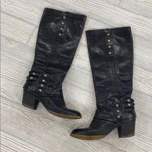 Nine West Vintage America Black Leather Boots - 8